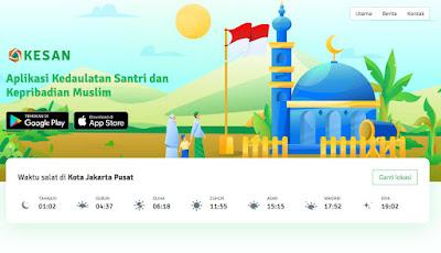 Aplikasi KESAN Pendamping Santri dan Kepribadian Muslim