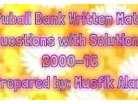 Pubali Bank Written Math Question Solution 200-16 - PDF file| পূবালী ব্যাংক রিটেন ম্যাথ সল্যুশন ২০০০ -২০১৬ PDF ফাইল