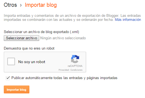 ¿Cómo migrar de WordPress a Blogger?