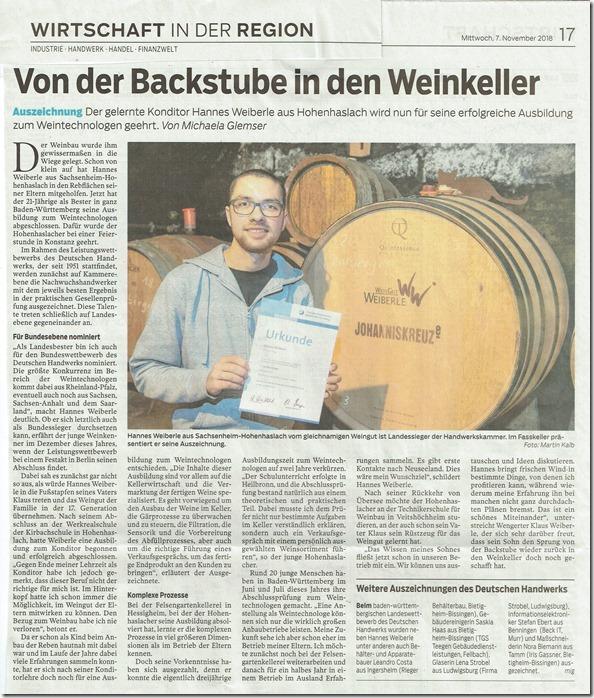 Hannes Bietighemer Zeitung Landespreis Foto