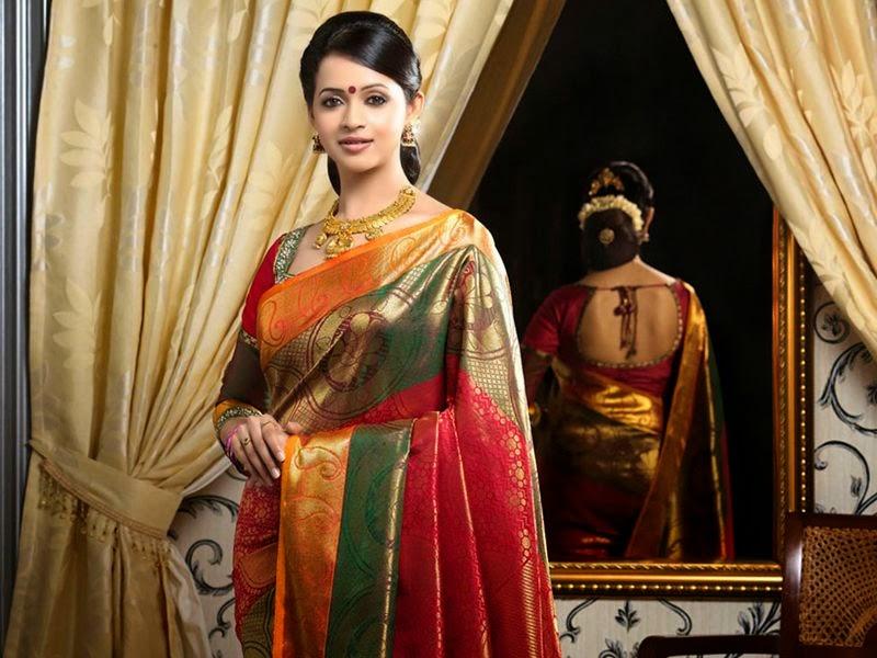 Actress Bhavana's Stills in Saree Best ever collection of her Career