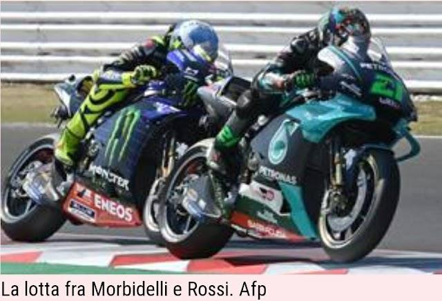 Misano, capolavoro Morbidelli, poi Bagnaia. Rossi 4°, Dovizioso leader iridato