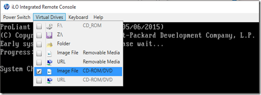 Script for Booting to Windows PE using HP iLO PowerShell Cmdlets