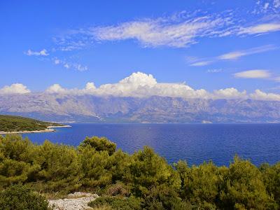 Blick auf das Festland Richtung Makarska
