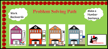 Free download - problem solving bulletin board from Raki's Rad Resources