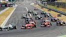 Start of 2013 Hungarian F1 GP