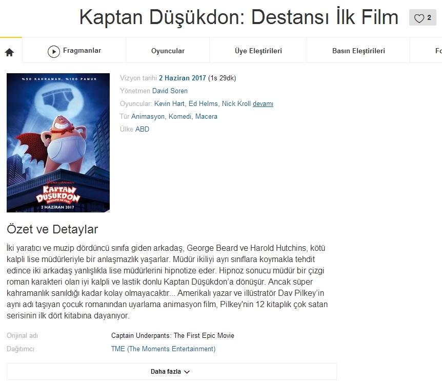 Kaptan Düşükdon Destansı İlk Film - 2017 Türkçe Dublaj BDRip indir