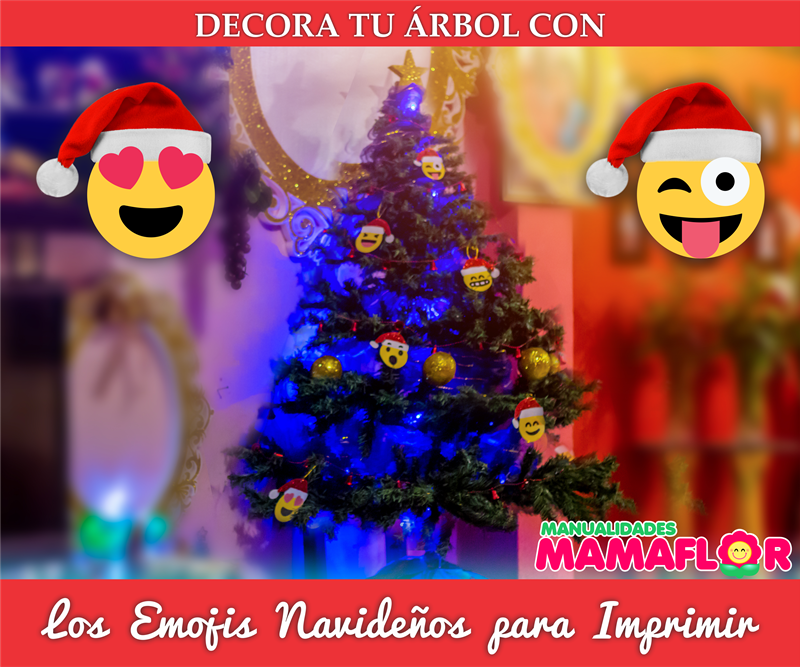 Emojis Navideños: Imprimir Navidad Gratis