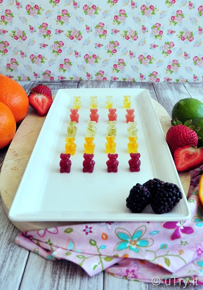 5 Different Flavors Homemade Gummy Bears 自家製小熊軟糖 (五種口味)  http://uTry.it