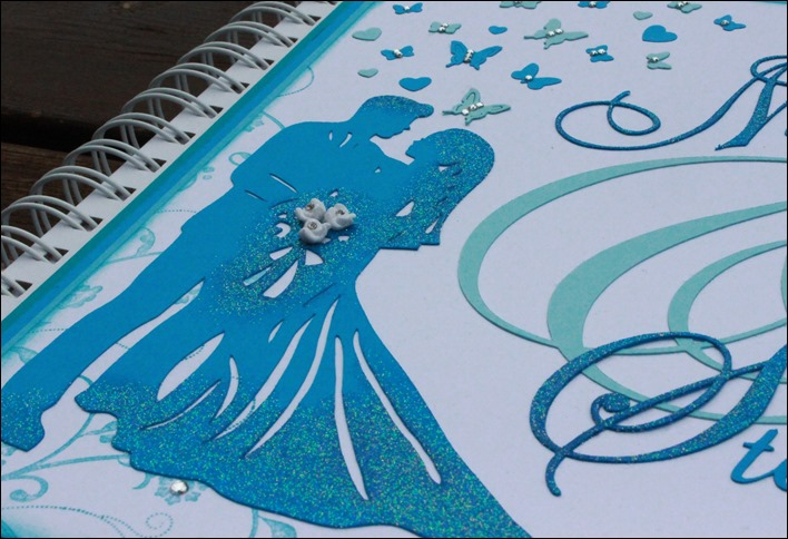 Gästebuch Hochzeit Wedding Guestbook Türkis Schmetterling 01