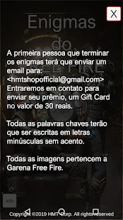 Enigmas do Garena Free Fire Screenshot