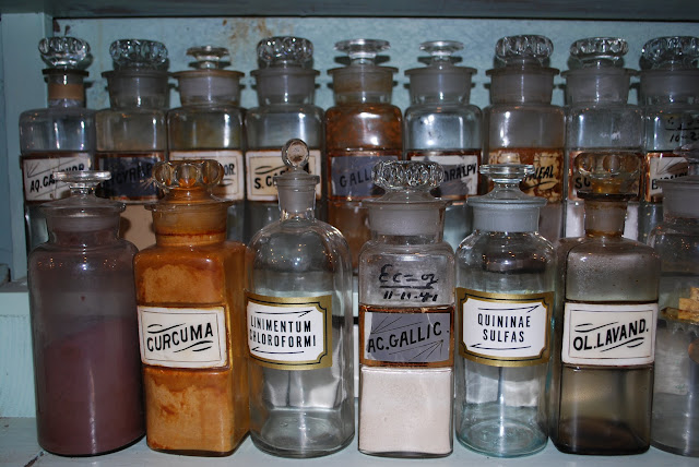 Fairhaven Pharmacy Museum display. / Credit: Annette Bagley