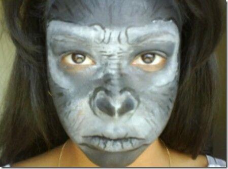 Maquillaje de gorila (4)
