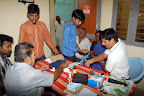 Dr.C.V.Lakshmanan doing Blood Test :: Date: Feb 17, 2008, 10:17 AMNumber of Comments on Photo:0View Photo