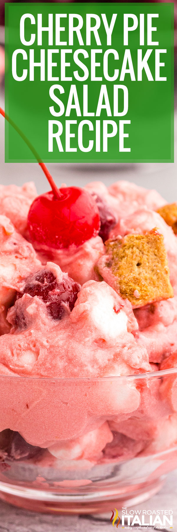 Cherry Pie Cheesecake Salad Recipe close up