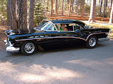 Black 57 Buick, still nailhead powered and owned by Otto for many years.