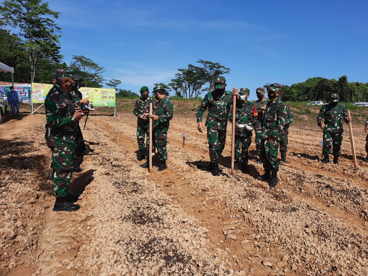 Kunjungan Kerja Pangdam VI/Mulawarman, Tinjau Mako Latgab dan Upaya Tekan Covid-19
