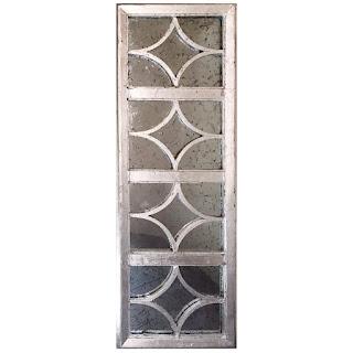 Aidan Gray Silver Gilt  Antiqued Decorative Mirror