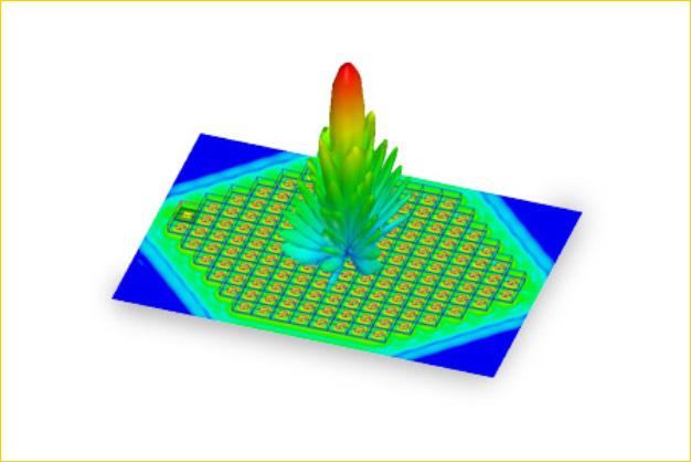 ANSYS - Диаграмма направленности фазированной антенной решетки