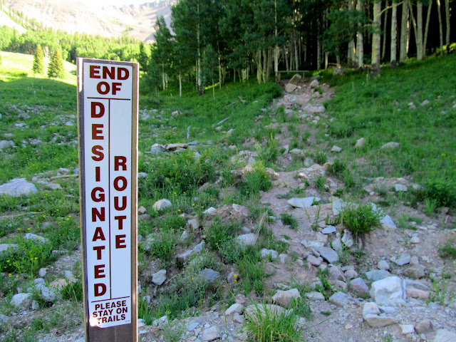 Unnecessary road reclamation and closure, and thus the beginning of my hike