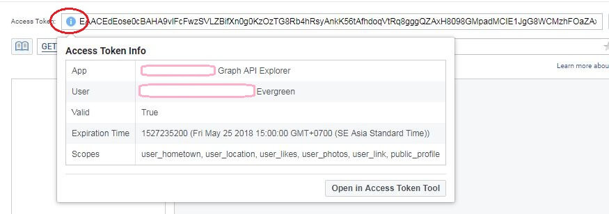 Kiểm tra thời gian tồn tại của Mã Truy Cập tại Access Token Info
