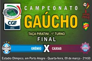 Crítica ao Futebol. Grêmio sofre diante do Caxias na final da Taça Piratini.