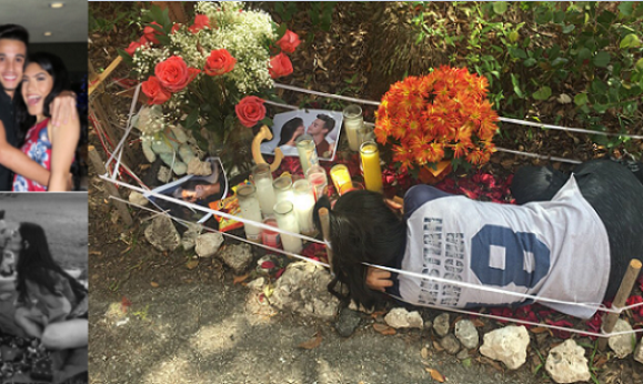 Heartbreaking Photos Of A Lady Lying On Her Late Boyfriend's Grave