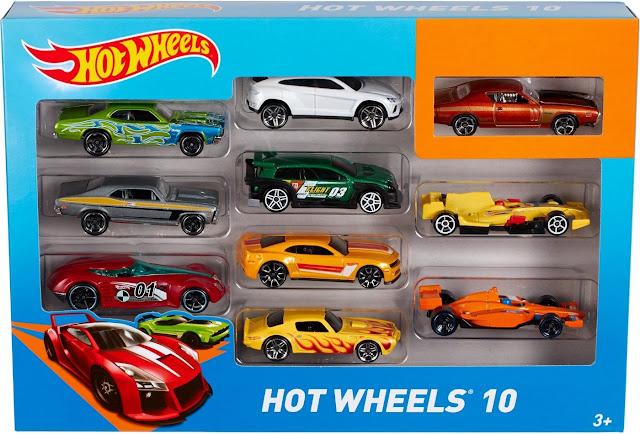 10 xe ô tô Hot Wheels 10 Car Pack Mattel 54886 dành cho trẻ em trên 4 tuổi