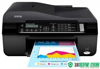 How to reset flashing lights for Epson WorkForce 525 printer