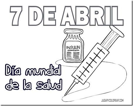 Colorear Día Mundial De La Salud 7 De Abril