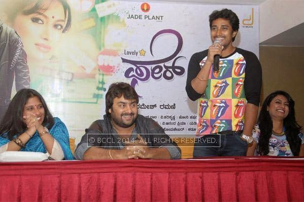 Shilpa Ramesh, Raghuram, Prem and Shweta Srivastav at the press meet of Fair and Lovely held in Bangalore.