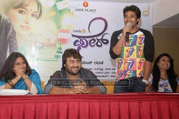 Shilpa Ramesh, Raghuram, Prem and Shweta Srivastav at the press meet of Fair and Lovely held in Bangalore.