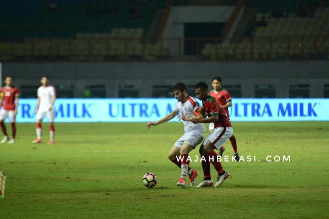 Syria tekuk indonesia U-23 di Stadion wibawa mukti