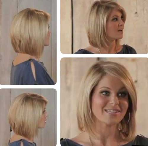 Easy hairstyle for bangs : Short fine bob hair style with bangs fashion qe