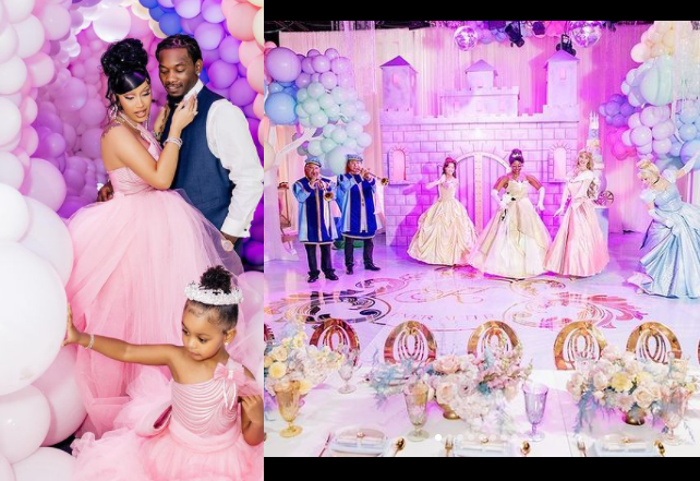 See photos from Cardi B and Offset's epic Disney Princess-themed birthday party for their daughter Kulture Kiari Cephus.