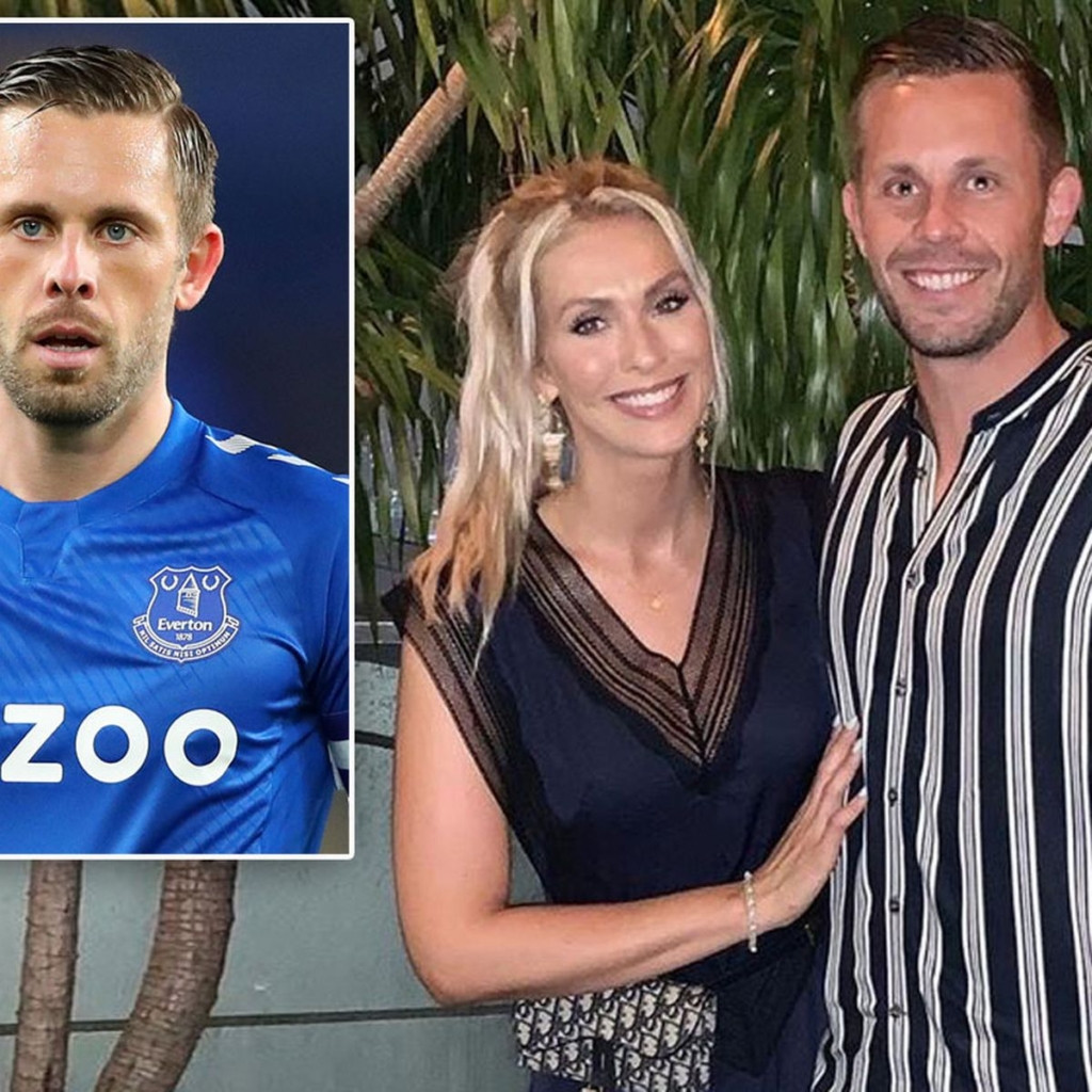 Update: Everton midfielder, Gylfi Sigurðsson's wife leaves their marital home for her hometown after his arrest for child sex offences