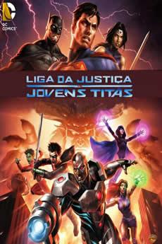 Capa Liga da Justiça vs Jovens Titãs Torrent