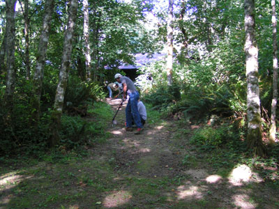 Removing organic matter from the path