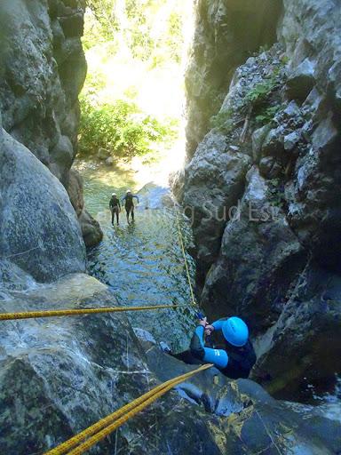 Tyrolienne canyon du cramassouri