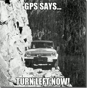 gps says