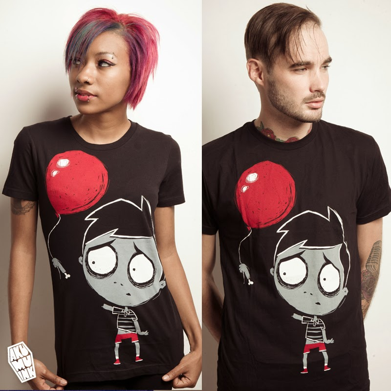 balloon tshirt, zombie boy tshirt, boy balloon shirt, arm fly away, boy arm balloon, boy arm balloon shirt, zombie boy balloon shirt, red balloon zombie