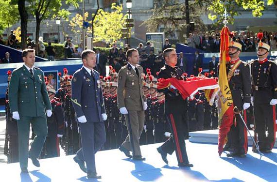 Composición del Desfile del 12 de octubre 2012, Día de la Fiesta Nacional de España