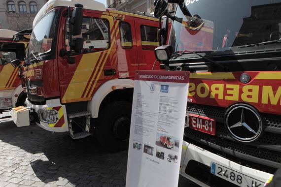 Renovación de la flota de vehículos de los Bomberos del Ayuntamiento de Madrid