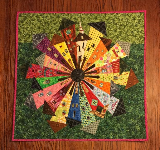 Dresden Neighborhood Quilt by Cindy Joyce