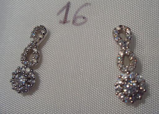 Pendientes de plata largos con circonitas