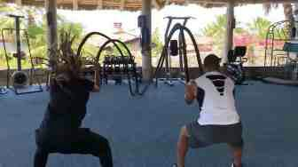 Ciara and Russell Wilson workout
