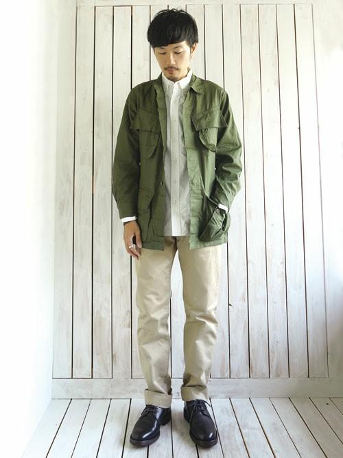 カラブロ2  JUNGLE FATIGUE JACKET (ジャングルファティーグジャケット)でちょっとひねりの効いたファッションを