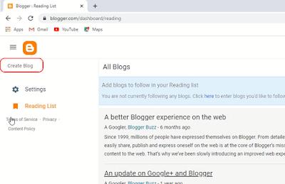 ब्लॉग बनाएँ