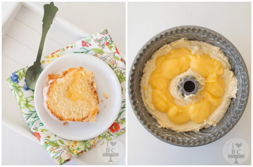 Lemon Curd Bundt Cake with lemon glaze