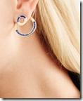 Pamela Love gold tone lapis lazuli earrings